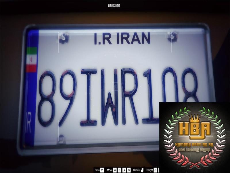 دانلود مود لیسانس پلاک ایرانی برای جی تی ای V
