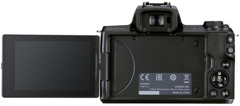 canon eos m50 mark ii aps c camera back lcd evf دوربین کانن EOS M50 Mark II با قیمت ۵۹۹ دلار معرفی شد