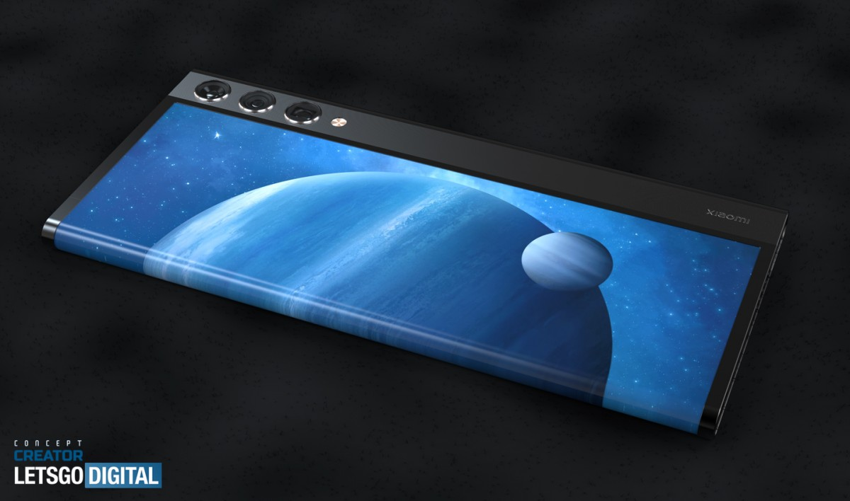 xiaomi rollable phone concept 2 رندرهایی از گوشی رول شونده شیائومی منتشر شد