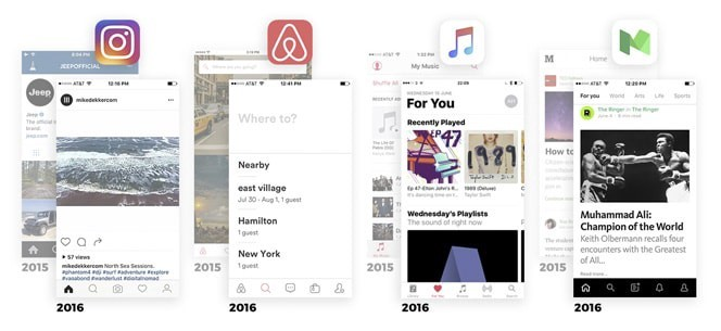 ترند طراحی اپلیکیشن در سال 2018