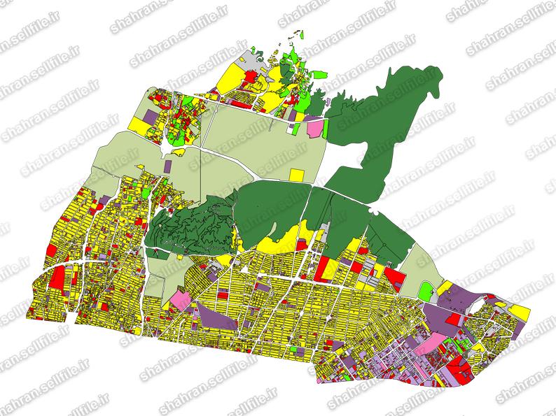 شیپ فایل نقشه منطقه 4 شهرداری تهران
