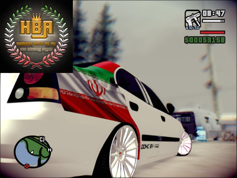 دانلود ماشین هیوندا آوانته با تکچستر پرچم ایرانی برای جی تی ای سن آندرس