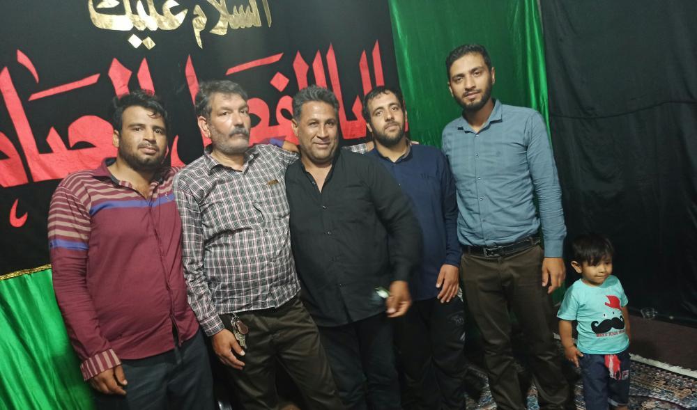 عکس خادمین حسینیه سیدالشهدا بروات مادحین شهرستان بم ذاکرین بم