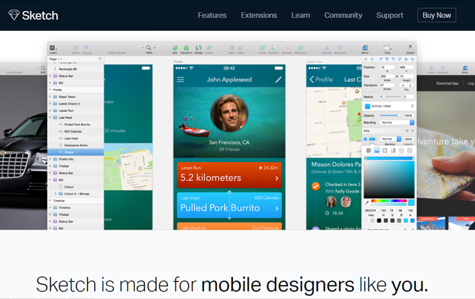 Ui for Mobel design software