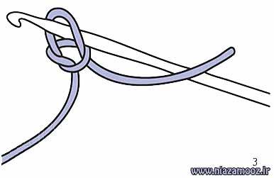 آموزش بافت زنجیره با قلاب
