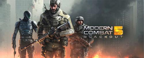 دانلود بازي مدرن کامبت ۵ Modern Combat 5: Blackout 2.1.0g  + مود + ديتا