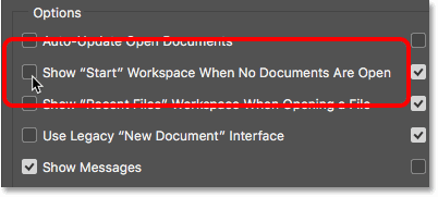 آموزش حذف workspace اولیه در فتوشاپ cc