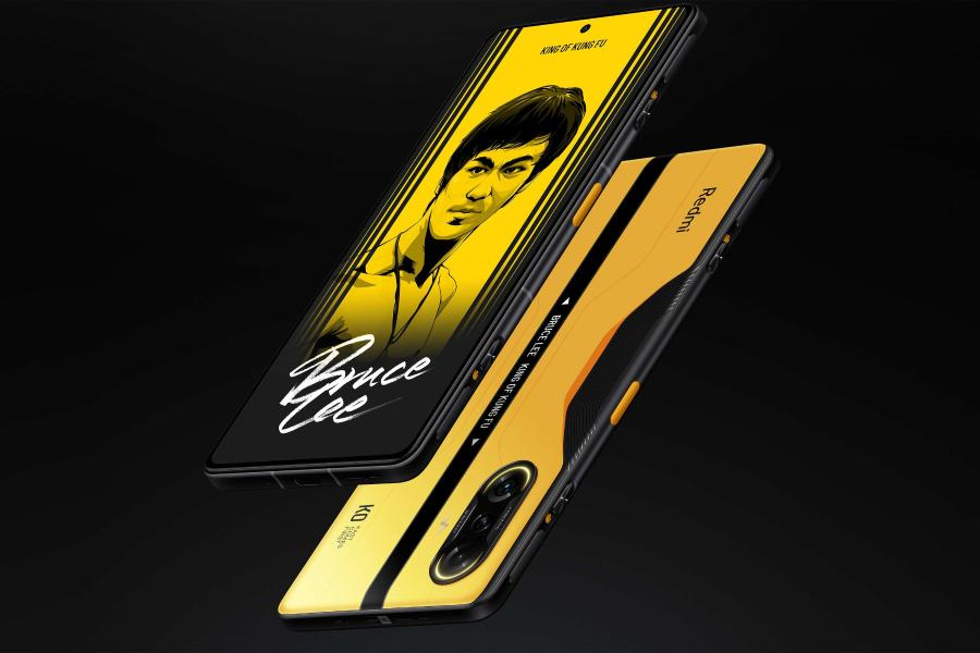 xiaomi redmi k40 gaming edition bruce lee yellow مدل گیمینگ ردمی K40 با پنل ۱۰ بیت ۱۲۰ هرتز و تراشه ۶ نانومتری رونمایی شد