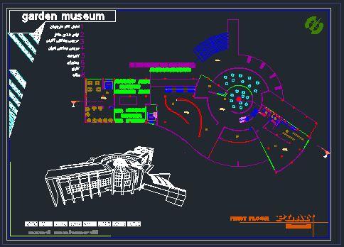 نقشه های باغ موزه
