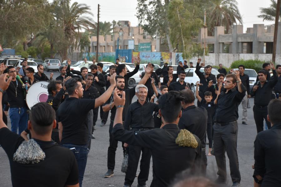 چهارراه بسیج اجتماع هیئت عزاداران حسینی بروات مرحوم برقی