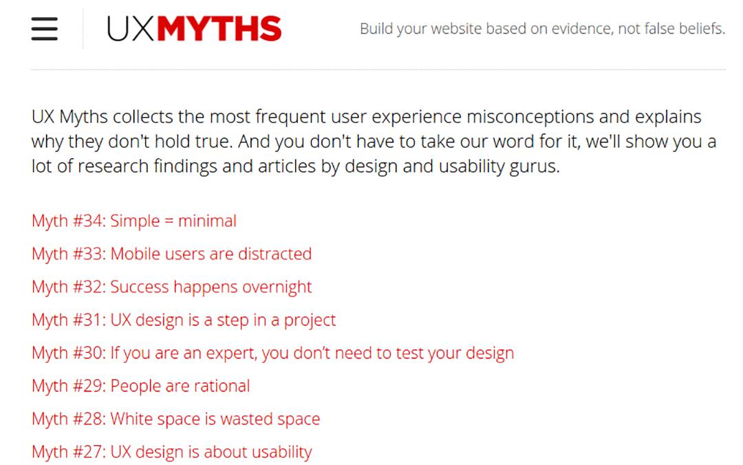 بلاگ UX Myth