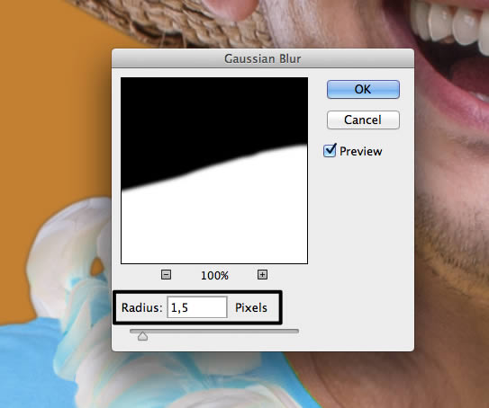 Gaussian blur filter settings