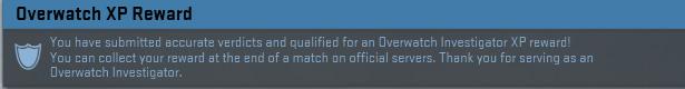 Overwatch XP Reward