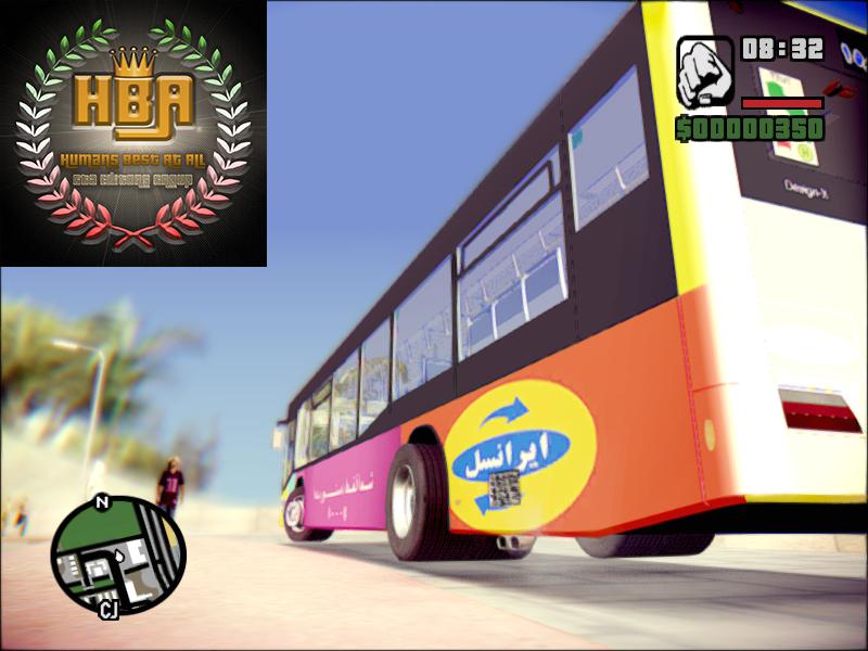 دانلود اتوبوس واحد با تبلیغات ایرانی برای جی تی ای سن آندرس