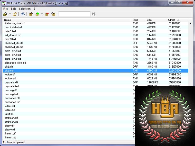 دانلود نرم افزار Crazy IMG Editor 1.0 Final برای اضافه کردن مود به جی تی ای سن آندرس