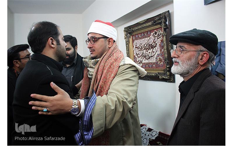 گزارشی از دیدار استاد محمود شحات با خانواده ی شهید حاجی حسنی