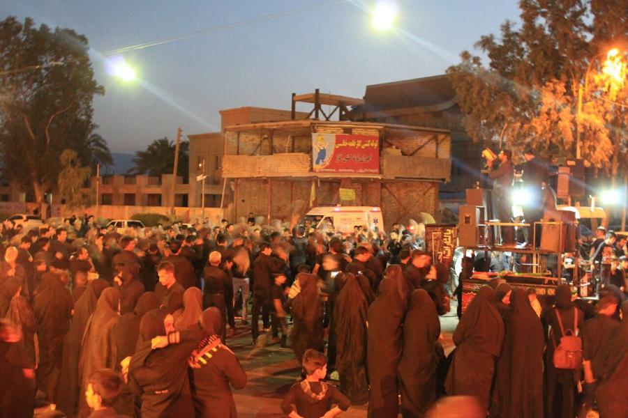 مراسم شام غریبان حسینی درحسینیه سیدالشهدا بروات مرحوم برقی شهرستان بم استان کرمان
