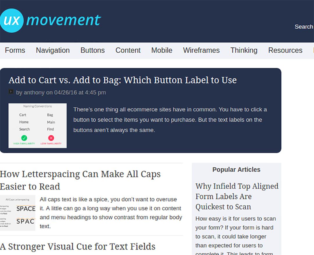 بلاگ UX movement