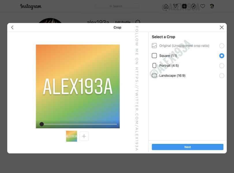 instagram create posts desktop 2 اینستاگرام ارسال پست از طریق نسخهی دسکتاپ را آزمایش میکند