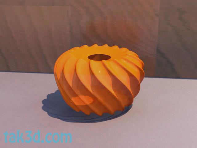 ساخت یک گلدان مارپیچی در ۳ds max