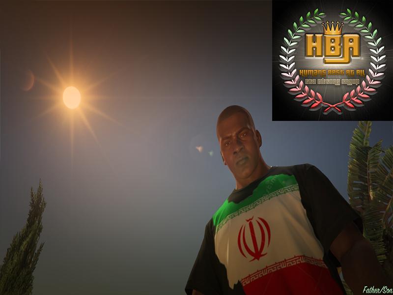 دانلود مود تیشرت پرچم ایرانی برای جی تی ای V