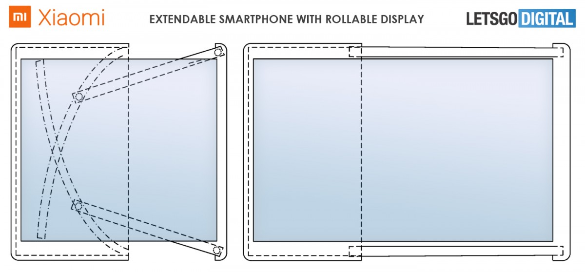 xiaomi rollable phone concept 1 رندرهایی از گوشی رول شونده شیائومی منتشر شد