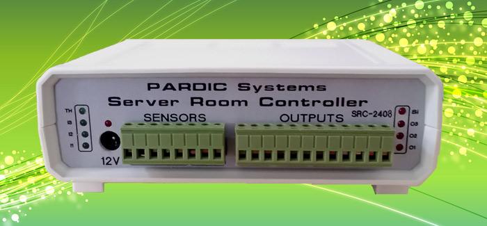دستگاه کنترل و نظارت بر تردد و دما و رطوبت اتاق سرور