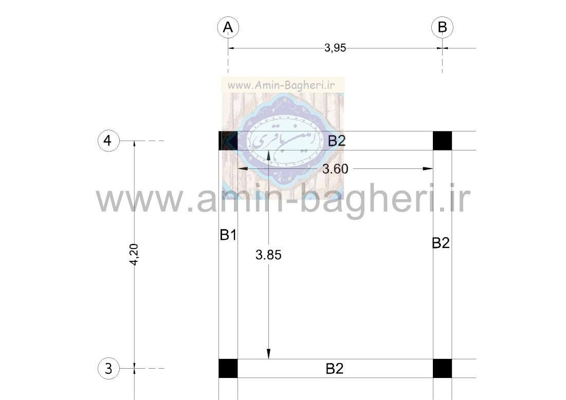 نمونه قالب بندی تیر و برداشت طول قالب ها
