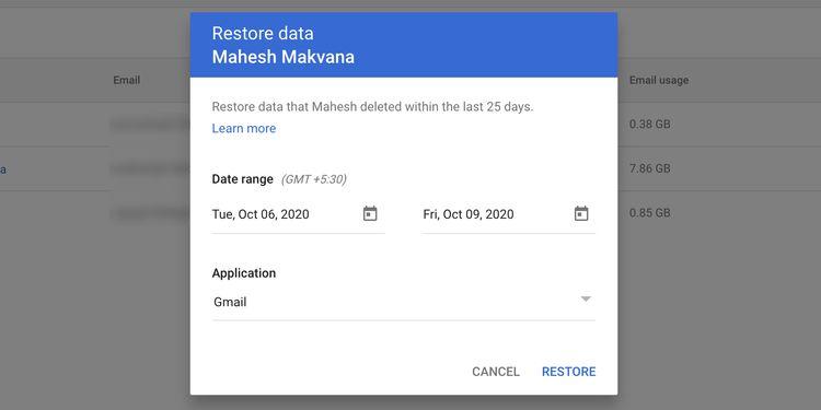 restore emails gmail workspace نحوه بازیابی ایمیل های حذف شده از جیمیل