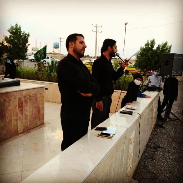 مهران بارانی مداح بروات شهرستان بم شهربروات مراسم زنجیرزنی اربعین حسینی علیه السلام