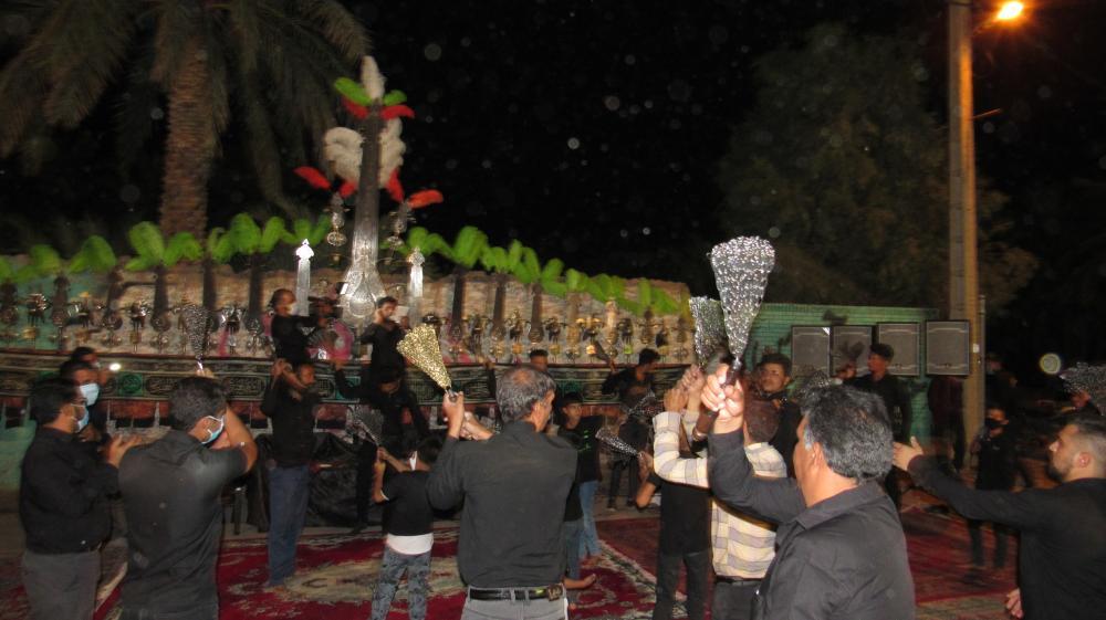 مراسم زنجیرزنی اربعین۹۹حسینیه سیدالشهدا بروات