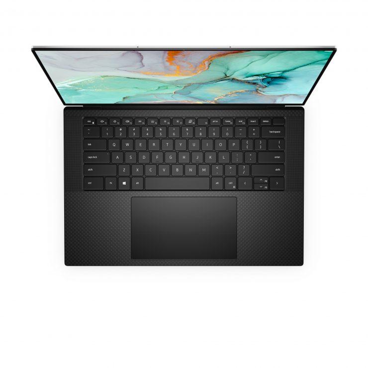 XPS 15 top down black 740x740 1 معرفی نسل جدید لپ تاپ های دل با پردازنده و گرافیک های سری جدید اینتل و انویدیا