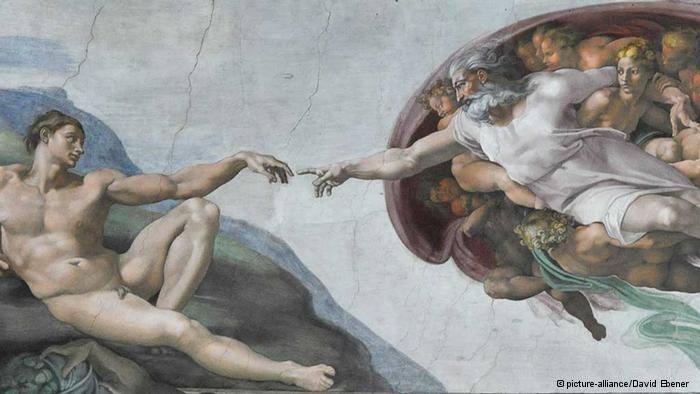 نقاشی آفرینش آدم ؛ میکل آنژ