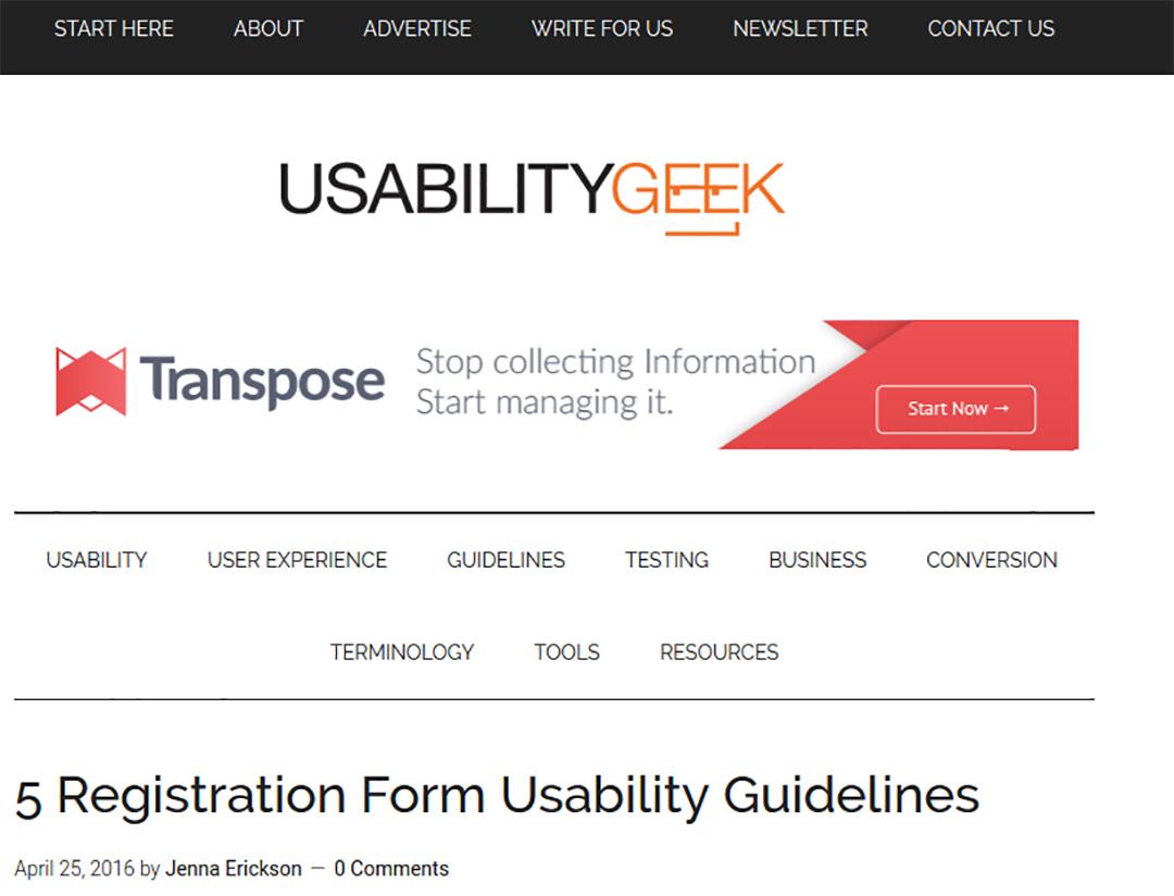 بلاگ usability