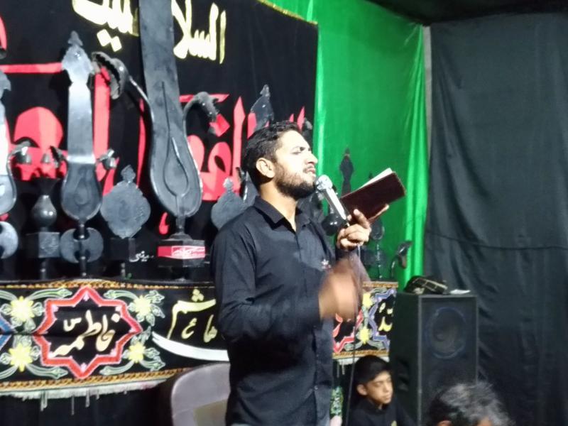 مهران بارانی مداح شهرستان بم مادحین بم شهربروات بخش بروات در شام شهادت صادق